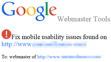 mobile usability issues warning